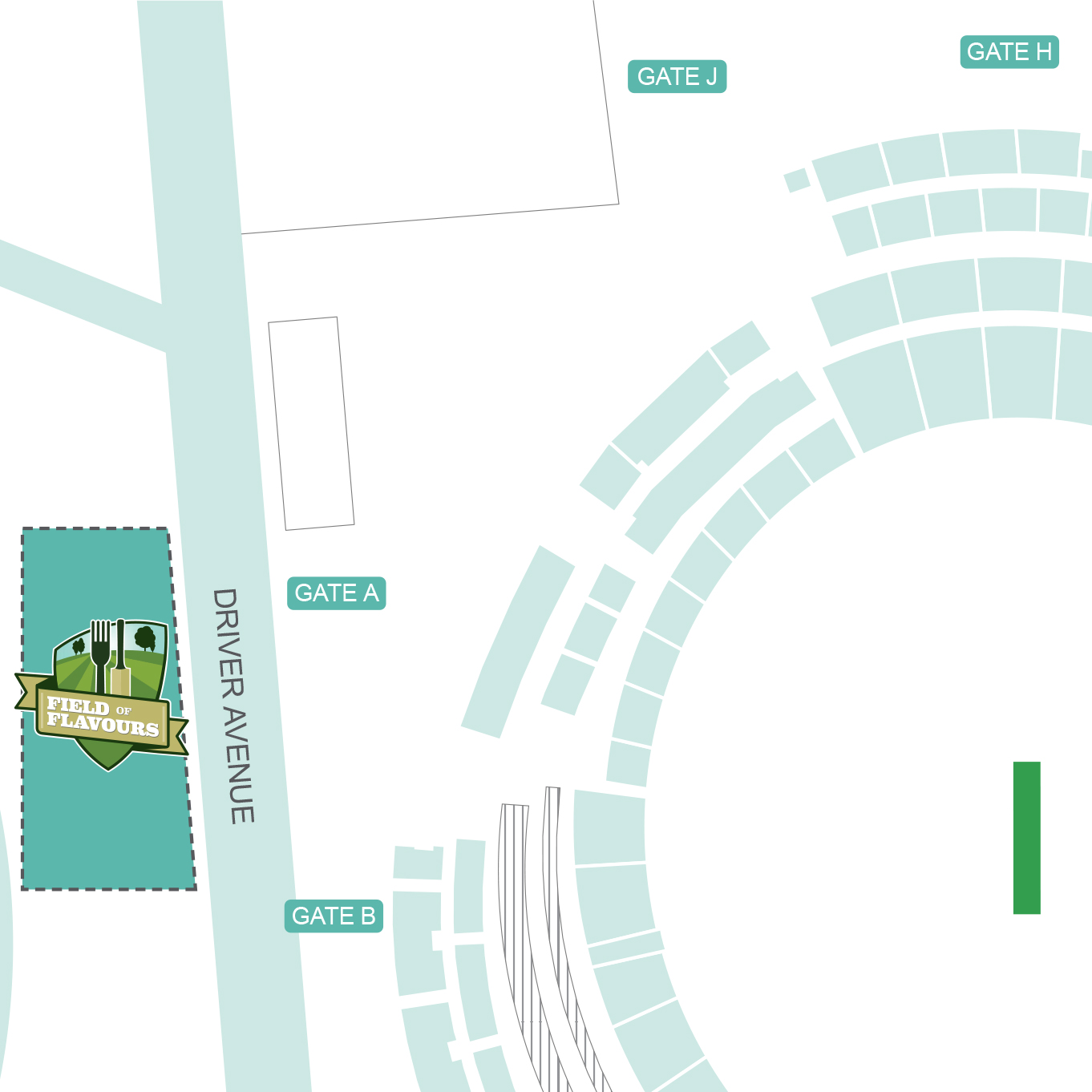 Location at the SCG