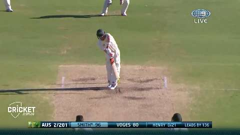 Henry bowls 134kph leg-break