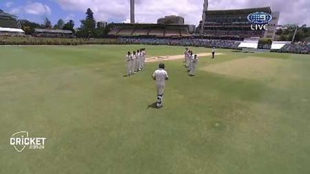 Black Caps form guard of honour for Johnson
