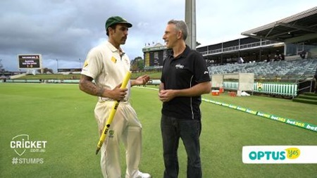 Stumps: Mitchell Johnson special edition