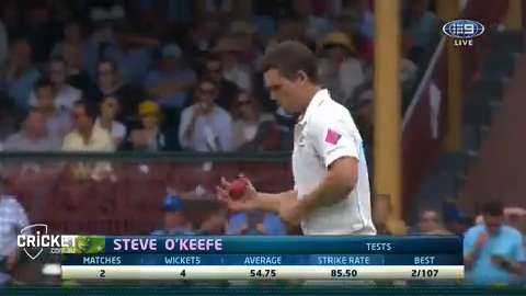 O'Keefe's maiden Test over at home