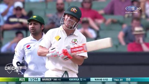 Feather ends Warner's wonderful innings