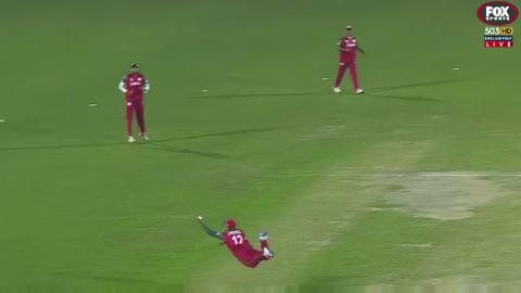 O-man! Amazing grab secures first wicket