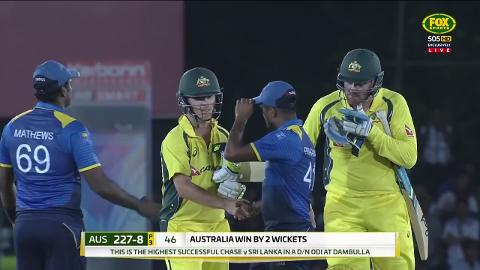 Aussies claim a thriller in Dambulla