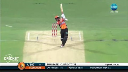 Klinger the standout in dour Scorchers innings