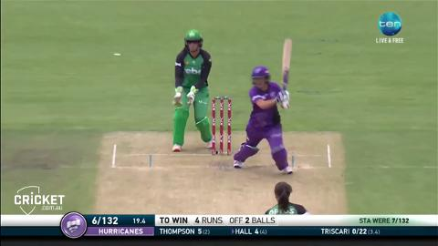 Hall gets Canes home in a WBBL02 thriller