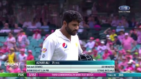 Azhar run out after diabolical mix up