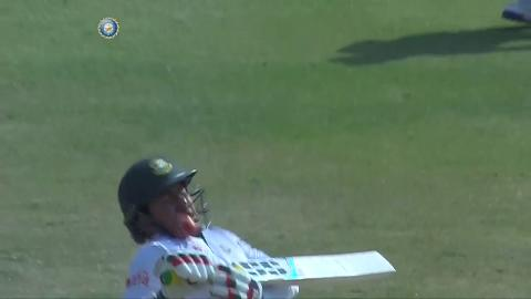 Ouch! Bangladesh opener cops one to the helmet