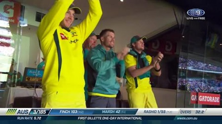 Finch hundred propels Australia to 8-304