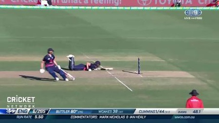 Diving Buttler, stranded Woakes somehow survive