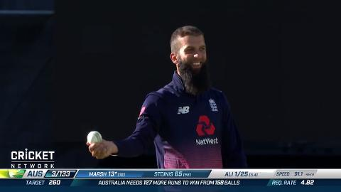 Moeen hangs on to ridiculous return catch