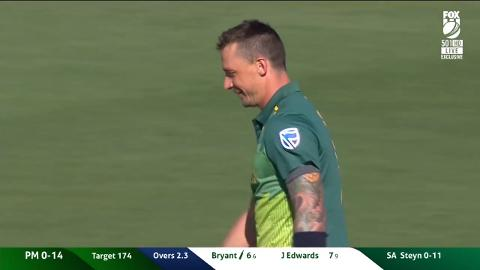 Steyn's response to audacious drive