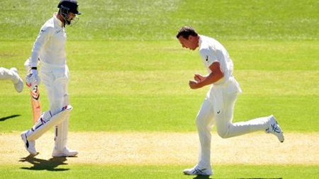 Hazlewood claims series' first wicket