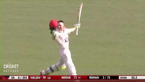 Nielsen celebrates century on Shield debut