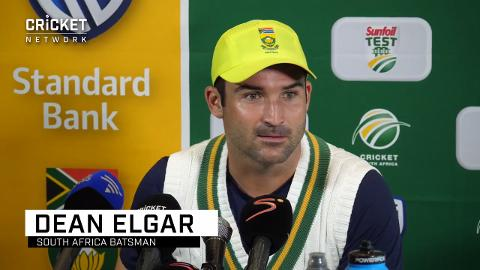 The wicket is by no means flat: Elgar