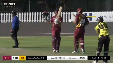 Heazlett's super hundred goes in vain for Bulls