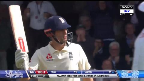 Cook fires but England collapse late at The Oval