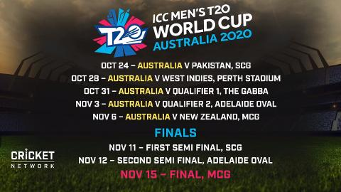 Cricket Calendar World Cup 2020 Men's T20 World Cup fixture released   cricket.com.au