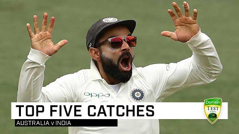 The five best catches from India Tests