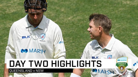 Blues seize advantage after Warner's vital ton