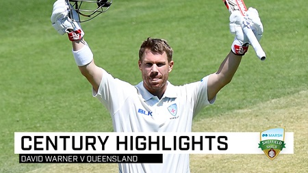 Warner blazes emphatic 125 in Shield return