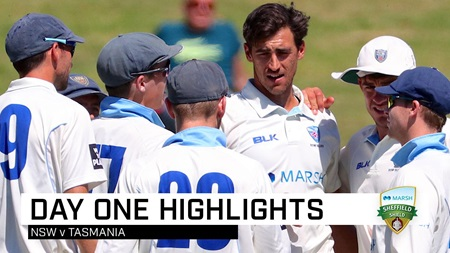 Tasmania hold firm against Blues on opening day