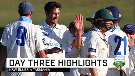 Starc leads the charge as NSW rattle Tasmania