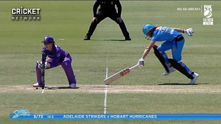 Commentators split over contentious run out call