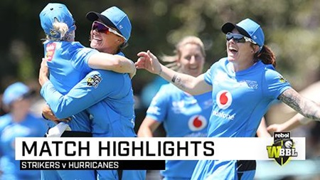 Strikers defend 113 in thrilling finish against Hobart