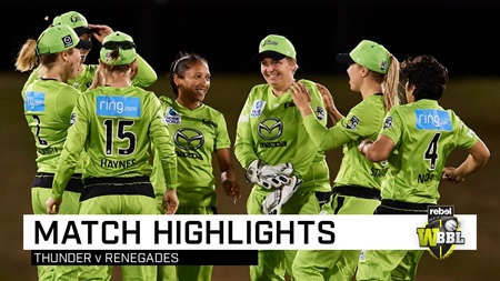 Thunder claim thrilling final-ball win over the Renegades