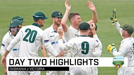 Harris, Handscomb post fifties but Tigers in box seat