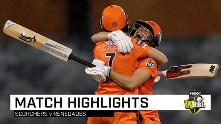 Lanning explodes as Scorchers win wet WACA thriller