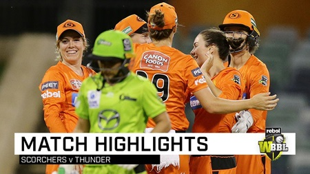 Scorchers skittle Thunder for an unlikely win at the WACA