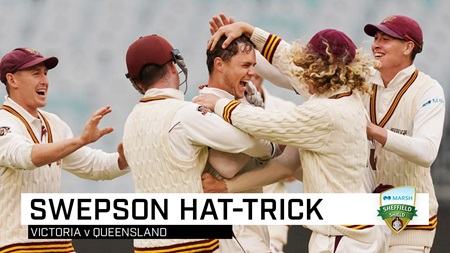 Hat-trick! Three lbws hands Swepson rare Shield feat
