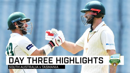 Tasmania declare behind but Redbacks stay in control