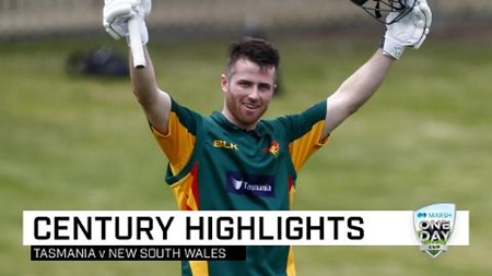Tassie youngster Wright hits impressive maiden ton
