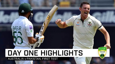 Aussie pace brigade to the fore as Pakistan bowled out