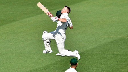 Gabba ton puts spring back in Warner's step