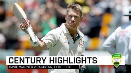 Home sweet home: Warner punishes Pakistan with 154