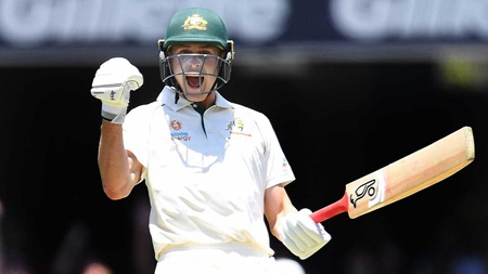 Magic moment as Marnus celebrates maiden Test ton