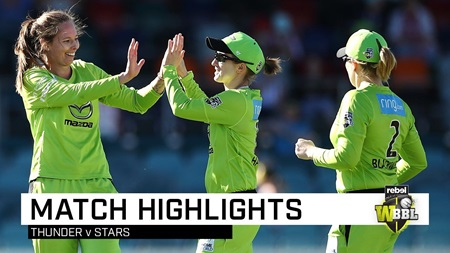 Thunder beat Stars, stay alive in WBBL|05