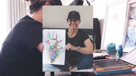 Hurricanes captain Corinne Hall reveals artistic flair