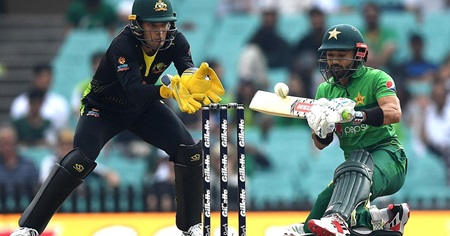 Pakistan set Aussies 119 in rain-reduced T20I