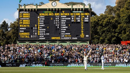 From the stands: Warner makes history in Adelaide
