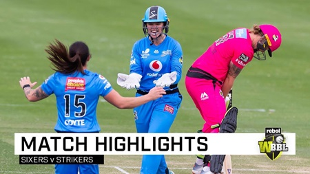 Ruthless Strikers crush Sixers to claim top spot