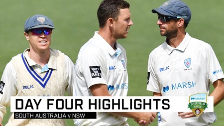 Blues notch third straight win after Hazlewood's six