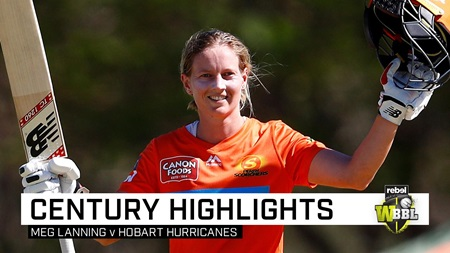 Mighty Meg mauls Hurricanes for maiden WBBL ton