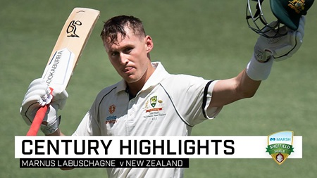 Marnus' third straight Test ton finishes on 143