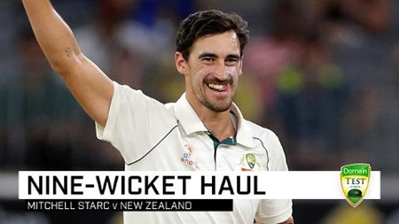 Destroyer Starc blitzes Kiwis for nine-wicket haul