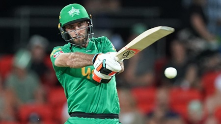 Maxwell cracks four sixes in entertaining knock